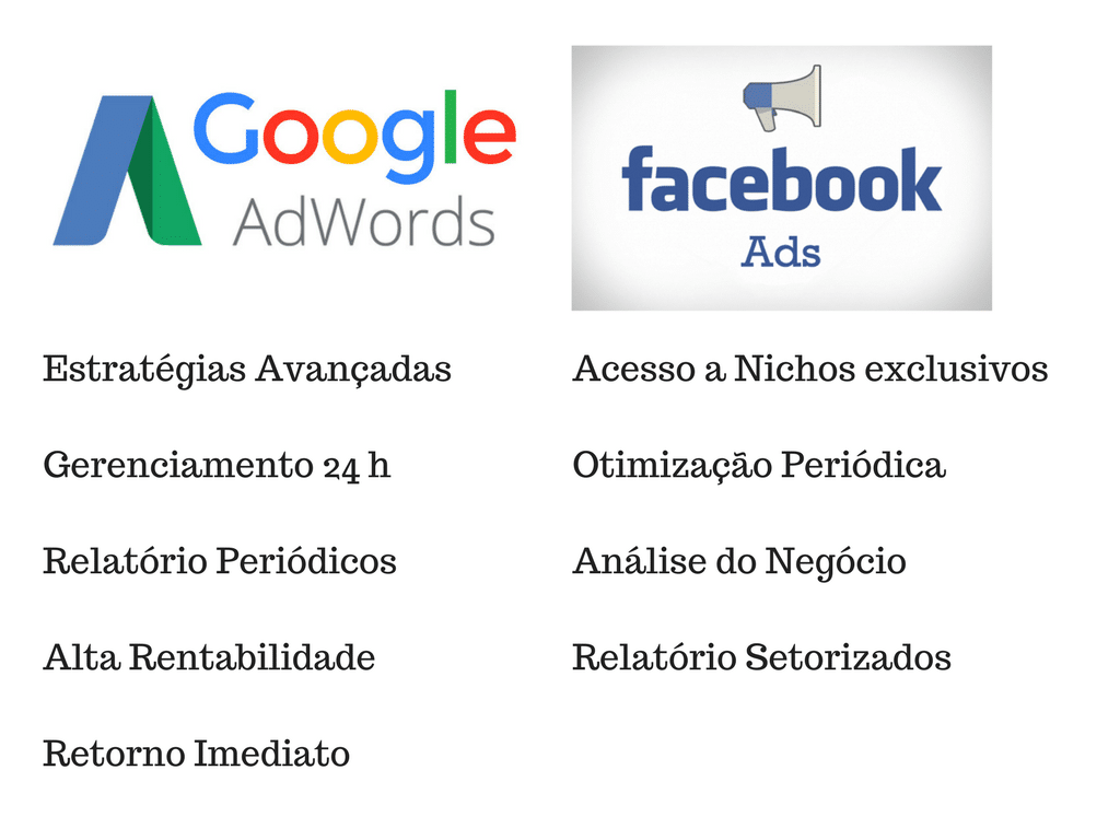Google Adwords e Facebook Ads
